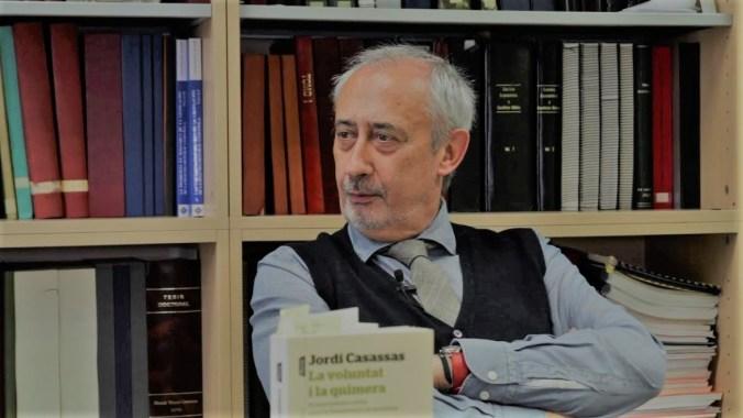 Jordi Casassas_La-voluntat-i-la-quimera-durant-lentrevista-
