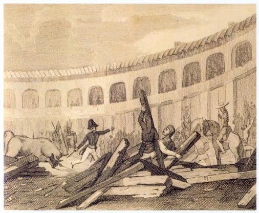 Bullanga plaça del torin 1835
