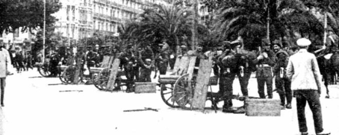 1917 Huelga_1917_05_el_ejercito_en_barcelona