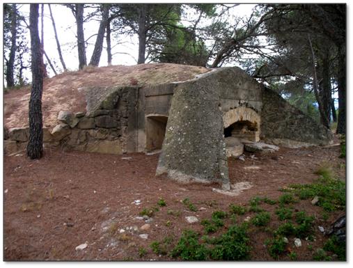 La linia del Cinca_Posició Caseres - Fort Milet